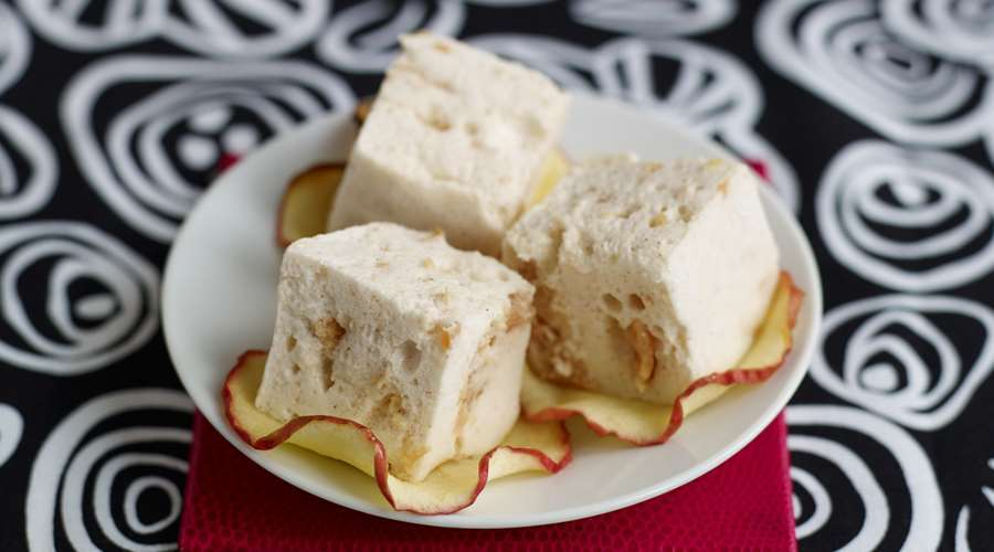 Pink lady apple pie marshmallows