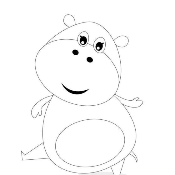 Colour in Heidi the Hippo