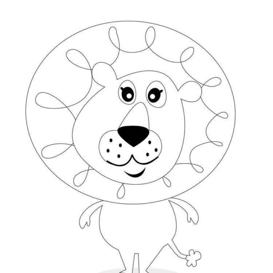 Colour in Larry the Lion
