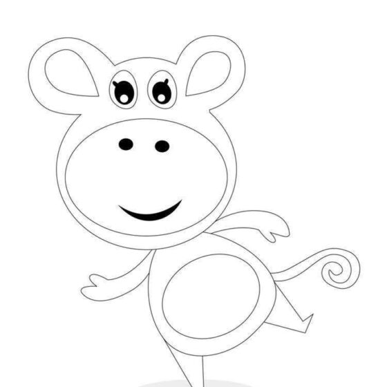Colour in Mabel the Monkey