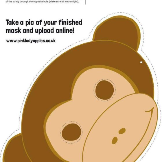 Make a monkey mask