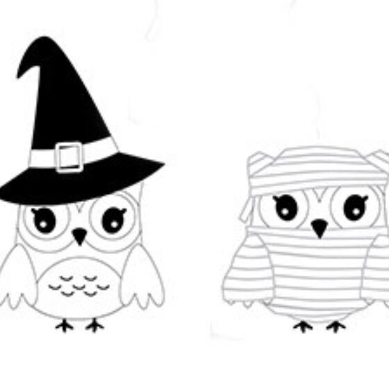 Colour in Halloween Owl