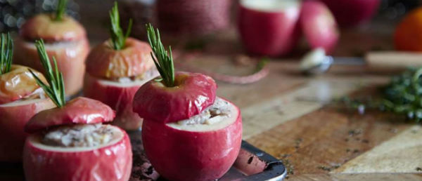 Christmas Festive Stuffed Apples
